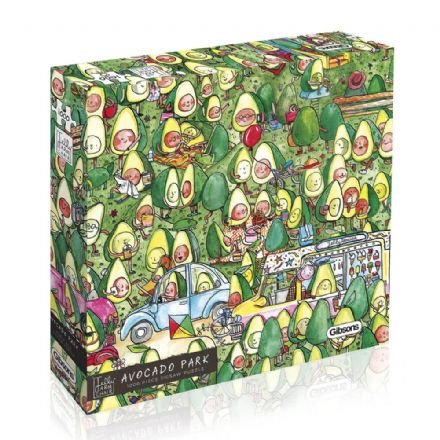 Avocado Park by Cat Faulkner for Jelly Armchair 1000 Piece Gibsons Jigsaw